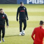 Atletico Madrid work on their attack