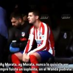The Bernabeu's three songs about Morata and his response